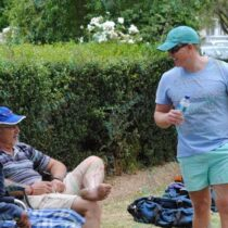 Men socialising at jukskei event