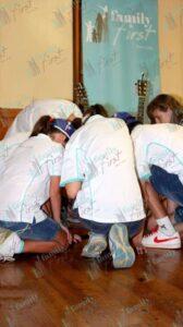 Musicians praying